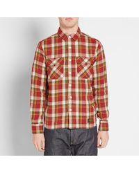 Neighborhood Red Cabella Check Shirt for men