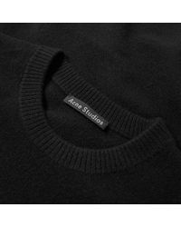 Acne Black Nalon Face Crew Knit for men