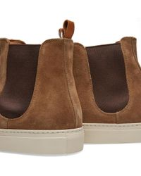 Buttero - Brown Tanino Suede Chelsea Boot - Lyst