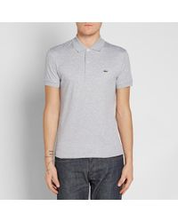 Lacoste Gray Jersey Polo for men