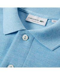 Lacoste Blue Marl Pique Polo for men
