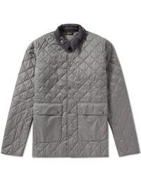 Barbour Gray Gimbal Quilt Jacket for men