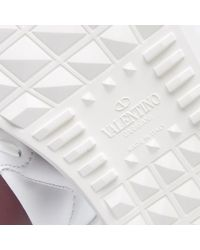 Valentino White Open Low Top Sneaker