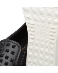 Valentino Black Rock Slip On Sneaker for men