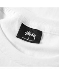 Stussy White Stock Tee for men
