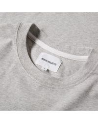Norse Projects | Gray Niels Small Logo Tee for Men | Lyst