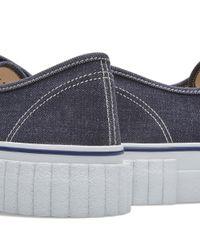 Ganryu Comme des Garçons Blue Denim Sneaker for men