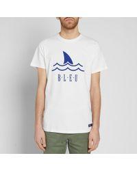 Bleu De Paname - White Shark Logo Tee for Men - Lyst