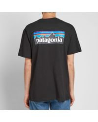 Patagonia Black P-6 Logo Pocket Responsibili-tee for men