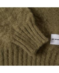 MKI Miyuki-Zoku Green Brushed Shetland Crew Knit for men
