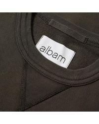 Albam Green Yarn Dye Crew Sweat for men