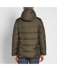 Mackintosh Green Corduroy Collar Down Jacket for men