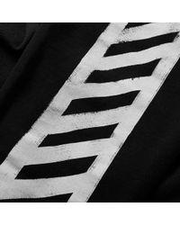 Off-White c/o Virgil Abloh Black Brushed Diagonals Sweat Pant for men