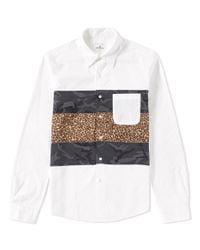 Uniform Experiment White Fabric Mix Shirt for men