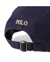 Ralph Lauren Blue Cotton Chino Sport Cap for men