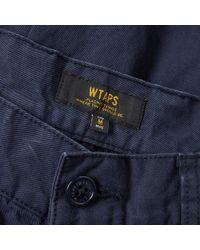 (w)taps Blue Cargo Short for men