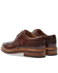 GRENSON Brown Archie Brogue for men