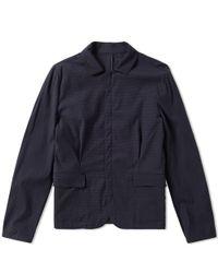 Wooyoungmi Blue Seersucker Shirt Jacket for men