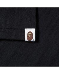 A Bathing Ape Black By Bathing Tee for men