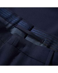 Incotex Blue Slim Fit Super Wool Pant for men