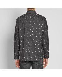 Uniform Experiment Black Star Flannel Shirt for men