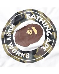 A Bathing Ape White 1st Camo Busy Works Tee for men