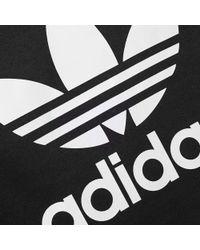Adidas Originals - Black Original Trefoil Crew Sweat for Men - Lyst