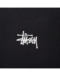 Stussy - Black Basic Crew Sweat for Men - Lyst