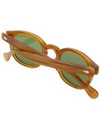 Moscot Brown Lemtosh Sunglasses for men