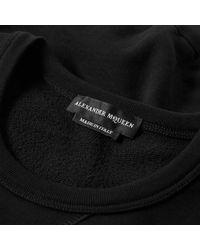 Alexander McQueen Black Embroidered Skull Crew Sweat for men