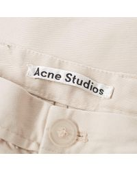 Acne Natural Ishir Twill Chino for men