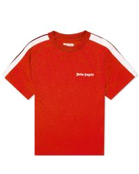Palm Angels Red Logo Print T-shirt for men