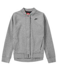 Nike Gray W Tech Fleece Destroyer Jacket