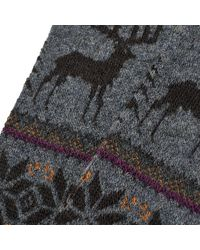 Anonymous Ism Gray Deer Snow Sock for men