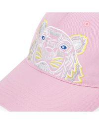 KENZO Flamingo Pink Tiger Logo Baseball Cap for men