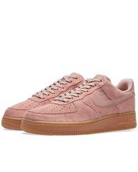 Nike Pink Air Force 1 '07 Lv8 Suede
