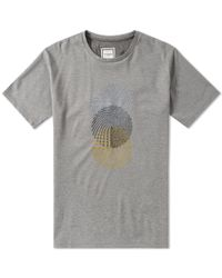 Wooyoungmi Gray Embroidered Circle Tee for men