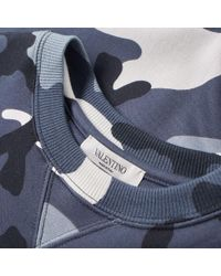 Valentino Blue Military Pocket Crew Sweat for men