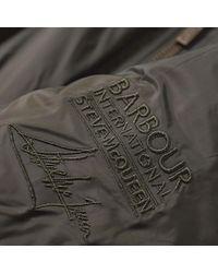 Barbour Green Steve Mcqueen Oil Field Quilt Jacket for men