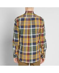 Gitman Brothers Vintage Yellow Archive Madras Shirt for men
