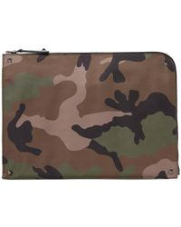 Valentino Green Classic Camouflage Document Case for men