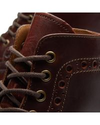 GRENSON Brown Fred Brogue Boot for men