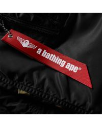 A Bathing Ape Black 1st Camo Alpha Ma-1 Jacket for men