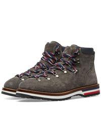 Moncler Gray Peak Nubuck Hiking Boot for men