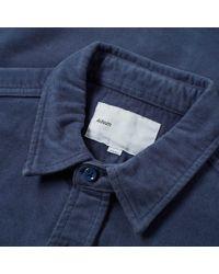 Adsum - Blue Italian Moleskin Workshirt for Men - Lyst