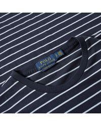 Polo Ralph Lauren Blue Custom Fit Tee for men