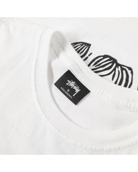 Stussy White Forces Of Nature Pigment Dyed Tee for men