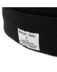 MKI Miyuki-Zoku Black Merino Beanie for men
