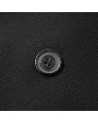 Mackintosh Black Wool Peacoat for men