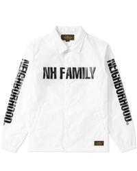 Neighborhood White Nh Family Brooks Jacket for men